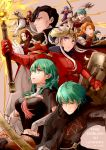5boys 5girls anniversary armor arrow_(projectile) axe aymr_(weapon) bernadetta_von_varley bike_shorts black_hair blue_eyes blue_hair bow_(weapon) brown_hair byleth_(fire_emblem) byleth_(fire_emblem)_(female) byleth_(fire_emblem)_(male) cape caspar_von_bergliez closed_mouth copyright_name dated dorothea_arnault dress earrings edelgard_von_hresvelg fake_horns ferdinand_von_aegir fire_emblem fire_emblem:_three_houses from_side gloves green_eyes green_hair headpiece holding holding_axe holding_bow_(weapon) holding_weapon horns hubert_von_vestra jewelry linhardt_von_hevring long_hair long_sleeves multiple_boys multiple_girls navel_cutout open_mouth orange_eyes orange_hair pantyhose parted_lips pegasus pegasus_knight petra_macneary ponytail purple_hair riding robaco shield short_hair sword sword_of_the_creator twitter_username violet_eyes weapon white_gloves white_hair yellow_gloves
