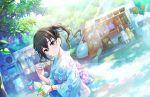 black_eyes black_hair blush idolmaster_cinderella_girls_starlight_stage kimono long_hair smile sunazuka_akira twintails