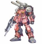 char's_counterattack gun guncannon gundam highres holding holding_gun holding_weapon honeybonesmaeda looking_down mecha mobile_suit_gundam no_humans redesign shoulder_cannon solo standing visor weapon white_background
