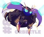 alternate_color artsy-rc character_name commentary english_commentary full_body gen_8_pokemon highres looking_at_viewer no_humans orbeetle pokemon pokemon_(creature) pokemon_number shiny_pokemon signature
