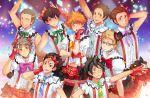 6+boys azumane_asahi black_hair blonde_hair blue_eyes bokura_wa_ima_no_naka_de brown_eyes brown_hair cosplay crossdressing gloves haikyuu!! kageyama_tobio love_live! love_live!_school_idol_project muki_(mayuiki) multiple_boys nishinoya_yuu parody red_gloves sawamura_daichi short_hair sugawara_koushi tanaka_ryuunosuke tsukishima_akiteru tsukishima_kei yamaguchi_tadashi
