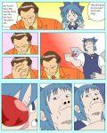 >_< 1girl 4chan boxing_gloves card_crusher cirno comic crossover crushing drawfag english face_punch face_punching facepalm hard_translated meme pokemon punch punching sakaki_(pokemon) touhou translated