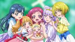 5girls :d aisaki_emiru anime_coloring baby back_bow blonde_hair blue_dress blue_eyes blue_hair blurry blurry_background bow brown_eyes brown_hair carrying dearigazu2001 dress floating_hair hair_bow hand_on_another's_shoulder hands_on_another's_shoulder harryham_harry highres hug-tan_(precure) hugtto!_precure kagayaki_homare long_hair multiple_girls nono_hana off-shoulder_shirt off_shoulder open_mouth pink_hair pink_skirt precure purple_hair red_bow red_eyes redhead ruru_amour shiny shiny_hair shirt short_hair short_sleeves shoulder_cutout skirt smile sundress twintails upper_body very_long_hair violet_eyes white_dress white_skirt yakushiji_saaya yellow_eyes yellow_shirt