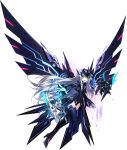 boots code:_ultimate_(elsword) elsword eve_(elsword) high_heel_boots high_heels highres mechanical_wings official_art shield sword weapon wings