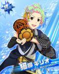 blonde_hair character_name drums green_eyes idolmaster idolmaster_side-m nekoyanagi_kirio short_hair smile yukata