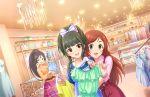 black_hair blush dress fuji_tomo idolmaster_cinderella_girls_starlight_stage long_hair red_eyes smile twintails