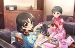 asano_fuuka black_hair blush brown_eyes dress idolmaster_cinderella_girls_starlight_stage short_hair