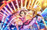 armpits blue_eyes blush brown_hair dress idolmaster_cinderella_girls_starlight_stage sasaki_chie short_hair smile