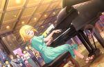 blonde_hair blue_eyes blush dress idolmaster_cinderella_girls_starlight_stage short_hair smile umeki_otoha