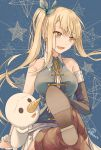 1girl arm_support bare_shoulders blonde_hair boots breasts commentary_request earrings elbow_gloves fairy_tail gloves jewelry kaerurokuroku24 large_breasts long_hair lucy_heartfilia open_mouth plue side_ponytail sitting solo thigh-highs thigh_boots tongue