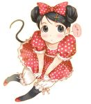 bloomers blush grey_eyes lowres minnie_mouse original polka_dot polka_dots takagi_hideaki