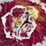 armor ba_(artist) digital_art duel fighting fighting_stance pegasus_seiya saint_seiya sea_horse_baian simple_background