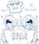 2boys brothers gemini_kanon gemini_saga humor jobo_(isi88) long_hair male saint_seiya shirt simple_background twins