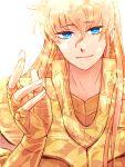 1boy armor blonde_hair blue_eyes face long_hair saint_seiya virgo_shaka