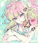 1girl female fish floating_hair jobo_(isi88) long_hair mermaid_thetis saint_seiya simple_background solo