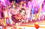 blush brown_hair idolmaster_cinderella_girls_starlight_stage muramatsu_sakura red_eyes short_hair smile yukata