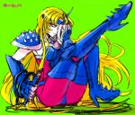 1girl armor boots chameleon_june female heels high_heels long_hair mask milky_611 saint_seiya shoulder_pads simple_background sketch solo whip