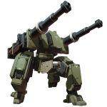 artillery cannon highres huge_weapon k180_seljuq last_origin mecha mechashire no_humans official_art science_fiction tachi-e transparent_background walker weapon