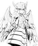long_hair mizuhara_aki monochrome saint_seiya siren_sorrento