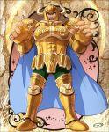 1boy armor golden_armor highres male mizuhara_aki posing saint_seiya solo taurus_aldebaran