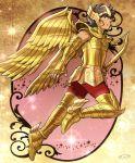 1boy armor golden_armor highres male mizuhara_aki posing sagittarius_aiolos saint_seiya solo
