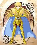 1boy armor golden_armor highres male mizuhara_aki posing saint_seiya solo virgo_shaka