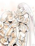 2boys androgynous aries_mu mizuhara_aki saint_seiya size_difference taurus_aldebaran