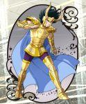 1boy armor capricorn_shura golden_armor highres male mizuhara_aki posing saint_seiya solo