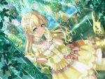 bang_dream! blonde_hair blush dress long_hair pink_eyes shirasagi_chisato smile