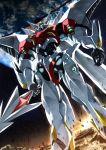 1990s_(style) blaster_mode d-boy earth epic highres mecha moon power_armor sakusakusakurai science_fiction space space_elevator tekkaman_blade