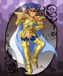 1boy armor cancer_deathmask golden_armor highres male mizuhara_aki posing saint_seiya solo