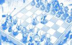 1boy 6+girls 6+others 9a-91_(girls_frontline) anti-materiel_rifle assault_rifle beret black_serafuku board_game character_request chess chess_piece chessboard dinergate_(girls_frontline) feodor_kamolovich_kamolov_(girls_frontline) girls_frontline gun handgun hat jaeger_(girls_frontline) manticore_(girls_frontline) miharu_(cgsky) multiple_girls multiple_others ots-12_(girls_frontline) ots-14_(girls_frontline) ouroboros_(girls_frontline) ppk_(girls_frontline) ptrd-41 ptrd-41_(girls_frontline) rifle ripper_(girls_frontline) robot sangvis_ferri school_uniform serafuku sniper_rifle tokarev_(girls_frontline) vespid_(girls_frontline) weapon