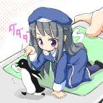 bird kojima_tsuma lowres minigirl penguin poke poking urara urara_(baby_princess)