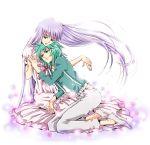 1boy 1girl andromeda_shun artist_request athena_(saint_seiya) kido_saori tagme
