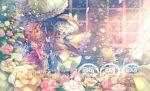 2girls aqua_hair bag black_headwear blonde_hair blush building closed_eyes day flandre_scarlet flower frills green_skirt hat hat_ribbon heart heart_of_string highres holding holding_bag holding_umbrella index_finger_raised koishi_day komeiji_koishi long_sleeves looking_at_another mob_cap multiple_girls open_mouth outdoors outstretched_arm parasol red_eyes red_ribbon red_skirt red_vest ribbon rose rose_bush sekisei_(superego51) shirt short_hair short_sleeves side_ponytail skirt smile third_eye touhou umbrella vest white_headwear white_shirt wide_sleeves window yellow_neckwear yellow_shirt