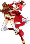 1girl :d animal_ear_fluff animal_ears arm_up bangs bike_shorts boots brown_cape cape cure_chocolat dog_ears dog_girl dog_tail earrings eyebrows_visible_through_hair full_body fur-trimmed_boots fur_trim gloves hair_between_eyes jacket jewelry kirakira_precure_a_la_mode knee_boots long_sleeves looking_at_viewer miniskirt open_mouth outstretched_arm outstretched_hand pleated_skirt precure red_eyes red_footwear red_jacket red_shorts redhead rick.black shiny shiny_hair short_hair short_shorts shorts shorts_under_skirt simple_background skirt smile solo tail thigh-highs white_background white_gloves white_legwear zettai_ryouiki