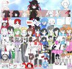 6+girls 6+others amamiya_hibiya artist_request asahina_hiyori azami_(kagerou_project) ene_(kagerou_project) everyone family hand_on_another's_head highres idol kagerou_project kano_shuuya kido_rin kido_tsubomi kisaragi_momo kisaragi_shintarou konoha_(kagerou_project) kozakura_marry kozakura_shion multiple_girls multiple_others origami paper_crane red_eyes red_scarf relationship_graph scarf seto_kousuke tateyama_ayaka tateyama_ayano tateyama_kenjirou