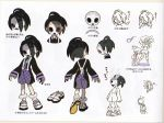 1boy ahoge black_hair concept_art gloves gym_leader long_sleeves looking_at_viewer male_focus mask multiple_views official_art onion_(pokemon) pokemon pokemon_(game) pokemon_swsh saitou_(pokemon) scan shirt shoes shorts single_glove sleeves_past_wrists socks suspender_shorts suspenders translation_request