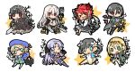 >:o 3boys 6+girls :3 :d angela_strraughend artist_name bat_wings beige_bow black_hair blonde_hair blue_eyes blush_stickers breasts chibi clothing_request commentary_request edgar_grosvenor eyebrows_visible_through_hair flower frantz_kruger gothic_lolita green_eyes gun hair_between_eyes hair_flower hair_ornament hairstyle_request hat holding holding_gun holding_sword holding_weapon leila_vergerius lolita_fashion long_hair looking_at_viewer medium_breasts medium_hair meilin_chen multiple_boys multiple_girls natasha_borzenkova navel open_mouth purple_hair raiten02 red_eyes redhead roselle_vergerius rusty_hearts short_hair simple_background smile star_(symbol) sword translation_request tude_macloud vampire weapon white_background white_legwear wings