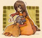2girls black_eyes black_hair blue_hair dress eiko_carol final_fantasy final_fantasy_ix garnet_til_alexandros_xvii hira_(otemoto84) long_hair lowres multiple_girls zzz