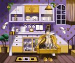 1girl :o alarm_clock animal animal_print animal_slippers animated animated_gif arch armchair bag bangs basket black_cat blanket blinking blowing blunt_bangs blush book bowl bowl_stack cat cat_print ceiling_light chair clock coffee cookie crescent_moon cup cupboard curtains drawer facing_viewer feet_on_chair floating floating_object flower food glass grey_legwear hair_bun hair_ornament hairclip heart heart_print holding holding_cup indoors jar knees_up levitation magic mituhati moon mug night no_shoes open_book original pajamas paw_print plant plastic_bag plate plate_stack potted_plant print_mug rug shelf sitting slippers slippers_removed socks spoon stairs steam sunflower tail tail_wagging teapot under_covers wallpaper_(object) window wooden_floor yellow_flower