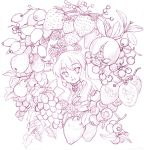 food fruit grapes graphite_(medium) louise_francoise_le_blanc_de_la_valliere monochrome oryou pear pomegranate purple raspberry strawberry traditional_media zero_no_tsukaima
