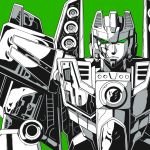 aircraft airplane asymmetry damaged decepticon green_background green_eyes jet kamizono_(spookyhouse) looking_at_viewer machinery mecha monochrome robot simple_background skeleton solo starscream transformers transformers_energon upper_body