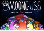 among_us amoonguss crewmate_(among_us) crossover foongus gen_5_pokemon highres instagram_username leroleroart no_humans parody pokemon pokemon_(creature) pun space title_parody twitter_username