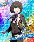 black_hair blue_eyes character_name idolmaster idolmaster_side-m kagura_rei short_hair smile tuxedo