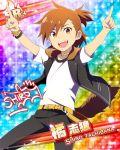 brown_eyes brown_hair character_name idolmaster idolmaster_side-m shirt short_hair smile tachibana_shirou