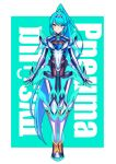 1girl absurdres breasts green_eyes green_hair highres hksicabb large_breasts pneuma_(xenoblade) ponytail spandex thigh-highs xenoblade_chronicles_(series) xenoblade_chronicles_2
