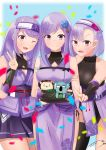 asano_akane asano_hikari asano_ruri asano_sisters_project japanese_clothes kimono moonlit_night266 ninja ninja_mask purple_hair purple_kimono siblings sisters violet_eyes virtual_youtuber