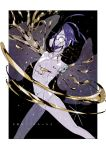 1other amputee androgynous blue_hair bodysuit broken center_opening crack crazy_eyes crying eri_na feet_out_of_frame highres houseki_no_kuni liquid looking_at_viewer one-eyed outside_border phosphophyllite phosphophyllite_(ll) see-through_sleeves shards short_hair solo sparkle spoilers standing tears wide-eyed
