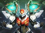 1990s_(style) d-boy doyouwantto energy_cannon epic glowing mecha power_armor shoulder_cannon solo tekkaman_blade